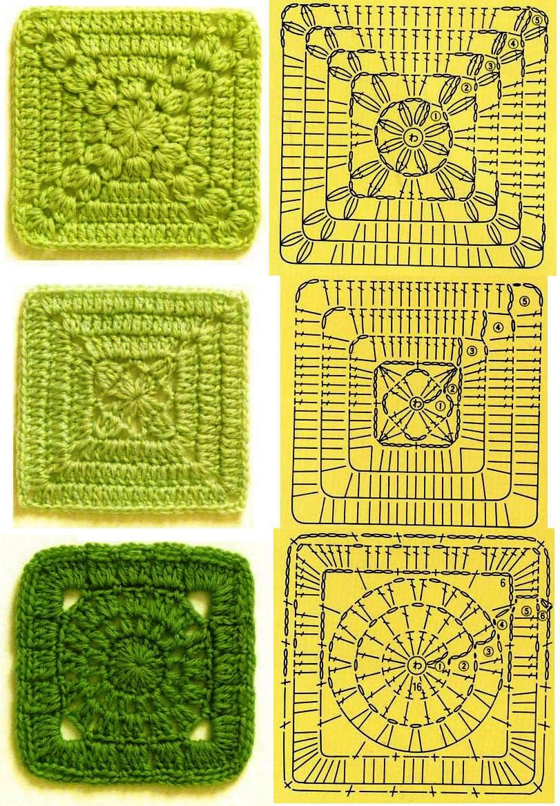 365 Granny Squares Project April 2013 Squarecrochetmotifpatterndiagram Http Otiskyprstuiccz Vzory Soubory Page 040
